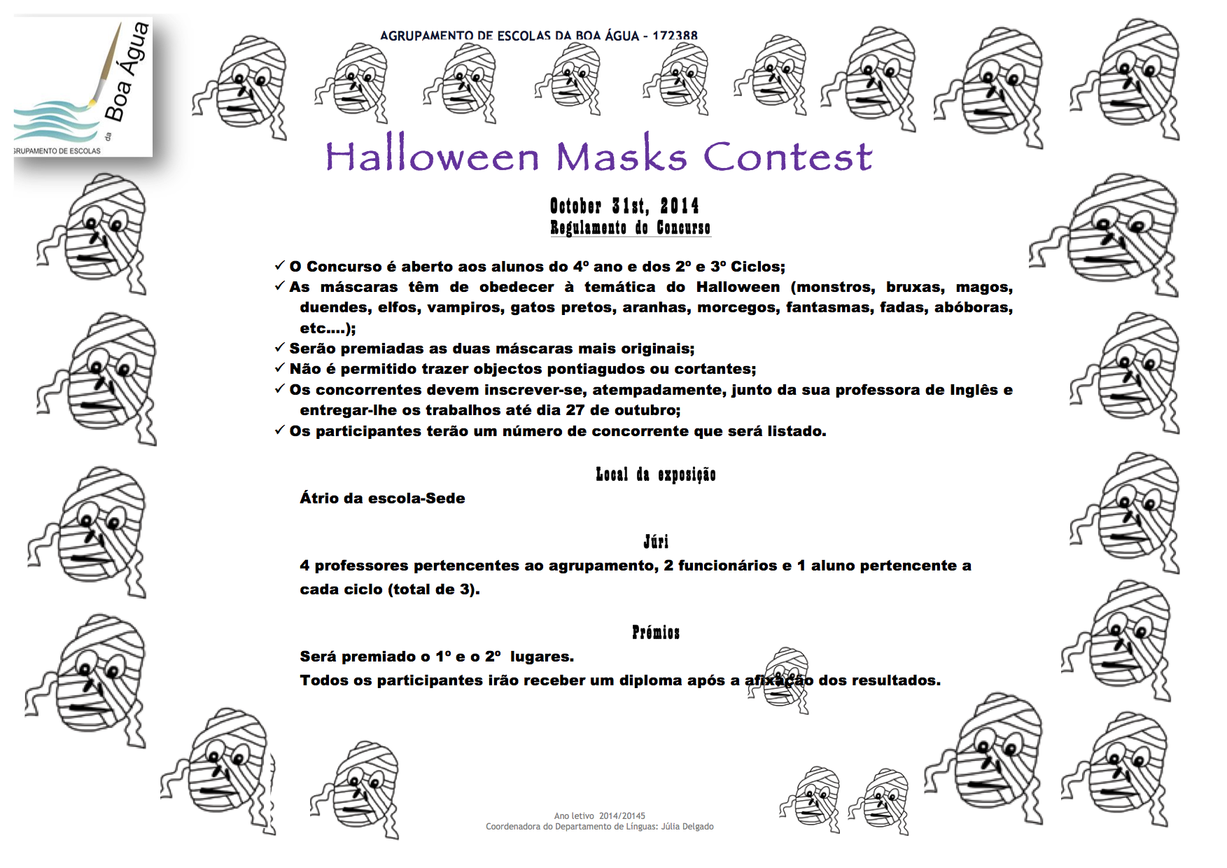 regulamento concurso halloween máscaras 2014 -2015
